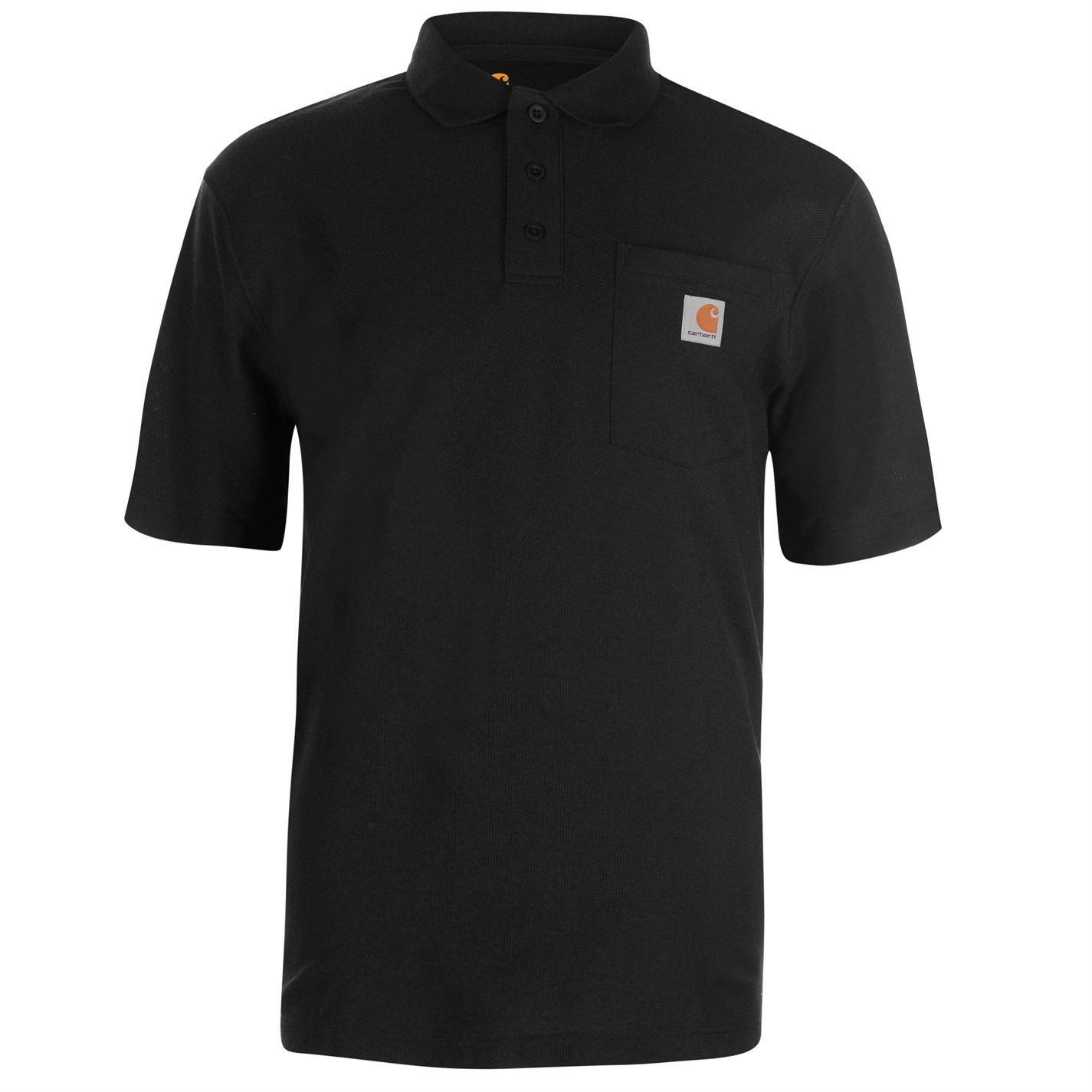 Carhartt Work Pocket Polo Shirt Mens Activewear Athleisure Top Tee Navy Small