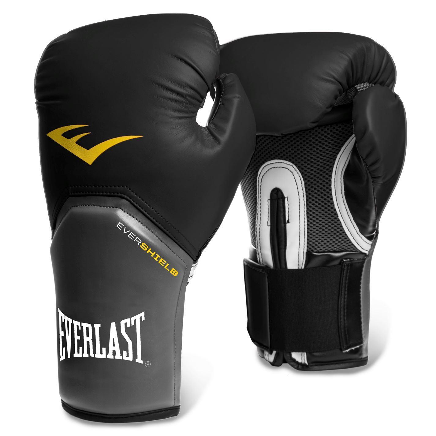 Everlast Elite Training Evershield Boxing Gloves Gym Fitness Bag Sparring Gloves