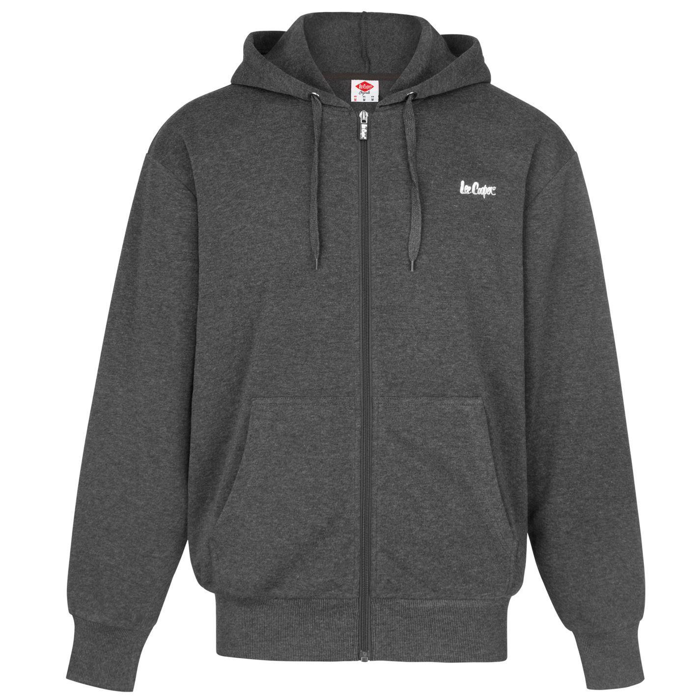 Lee Cooper Full Zip Hoody Jacket Mens Hoodie Hooded Top Sweatshirt Sweater