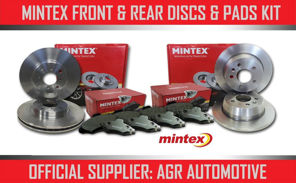 REAR DISCS AND PADS FOR VOLVO S80 2.4 TWIN TD MINTEX FRONT 2009 ELEC H//B