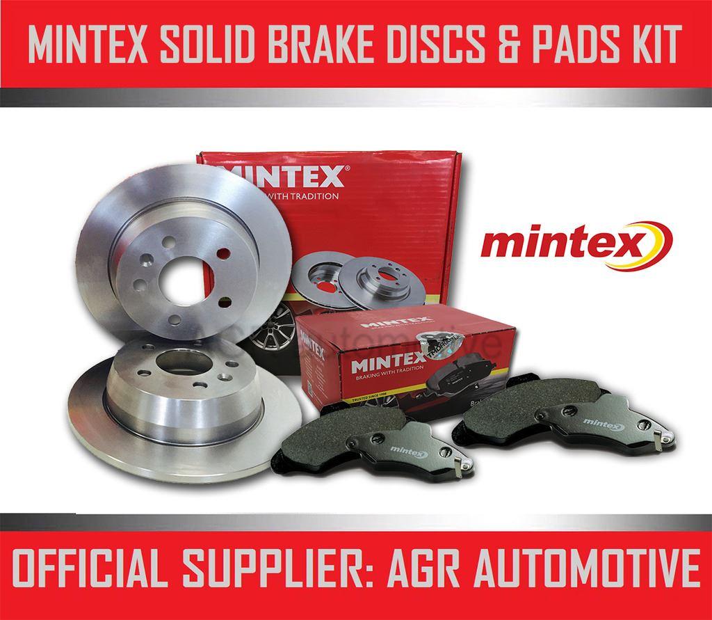 MINTEX REAR DISCS PADS 286mm FOR OPEL VECTRA B ESTATE 2.6 I V6 170 BHP 2000-03