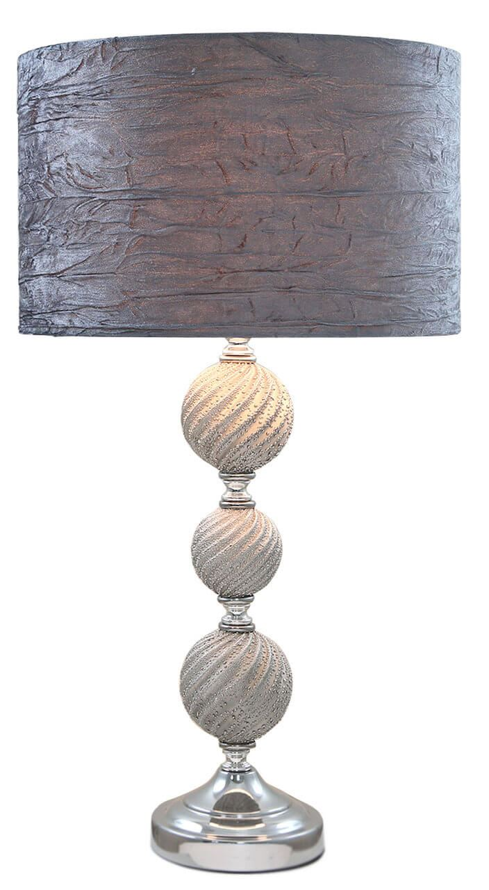 Three Ball Ceramic Table Lamp with Shade Bedside Table Lamp