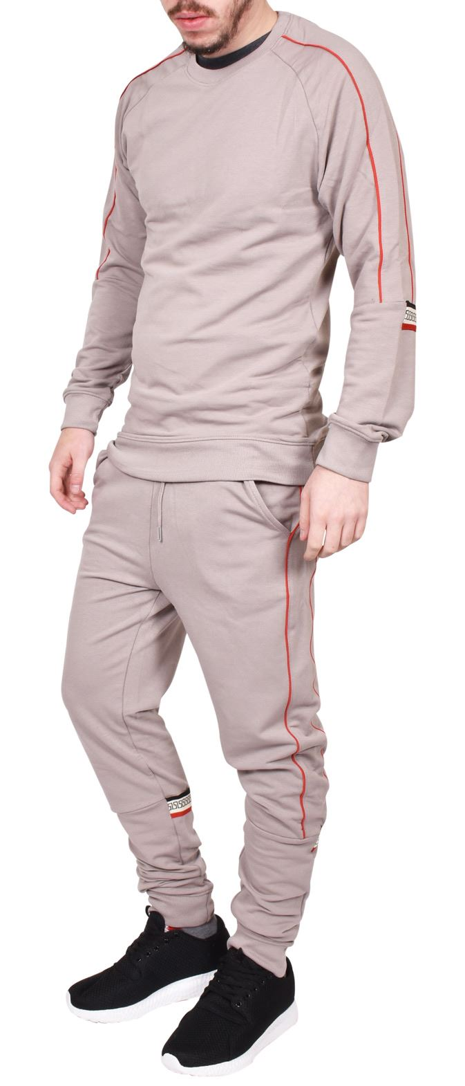 Mens Tracksuit Matching Shorts /& Long Bottoms Crew Neck Jogging Casual Workout