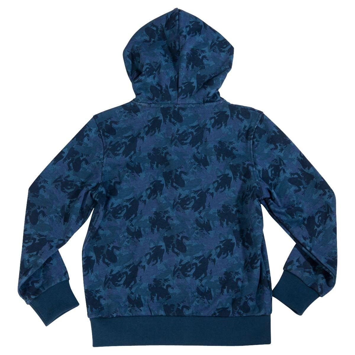 Skechers Boys Hoodies Camo Printed Fleeces Sweatshirts Zipper Kids Sports Top