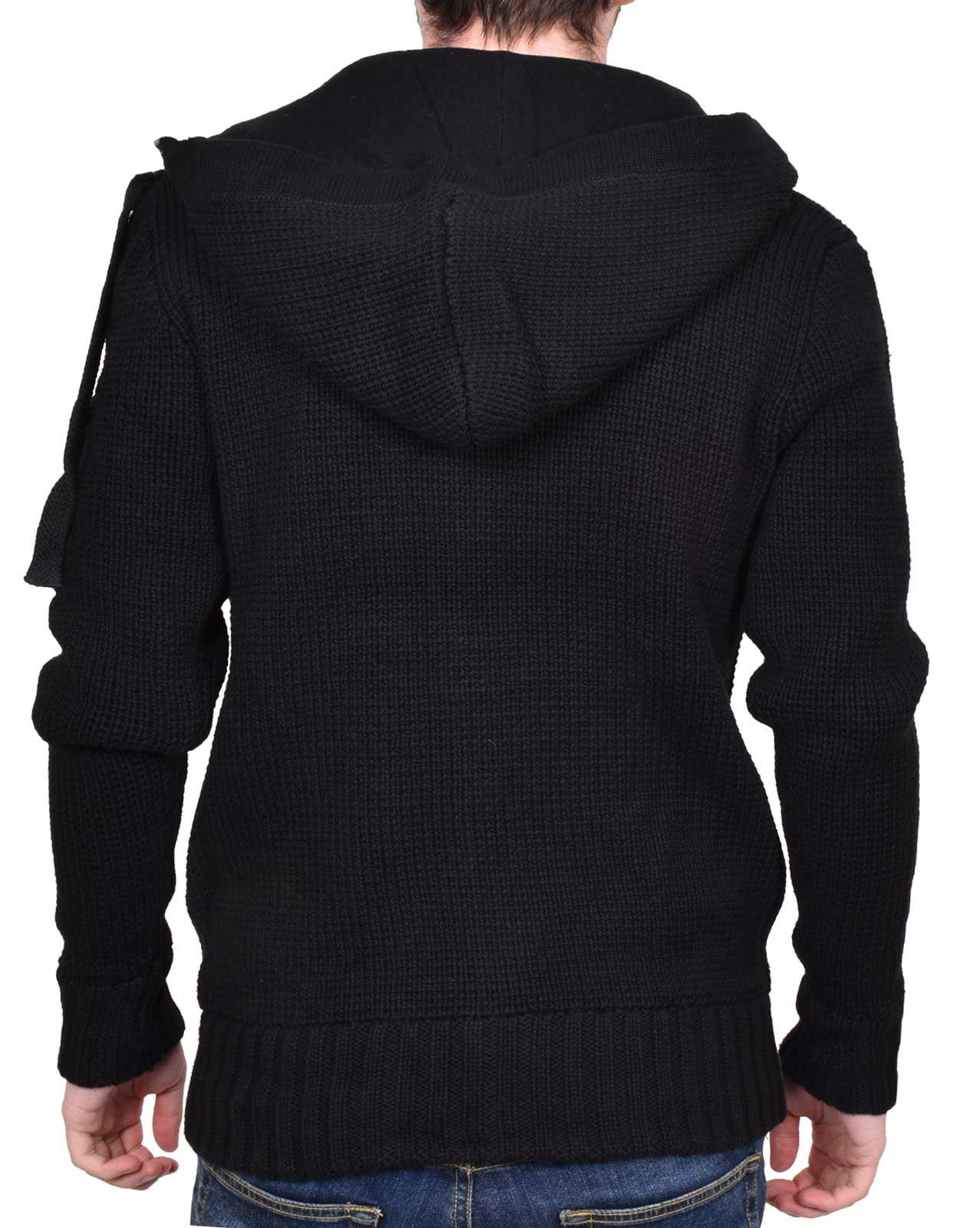 Mens Hoodie Brave Soul Knitted Full Zip Long Sleeve Cardigan Top Hoody