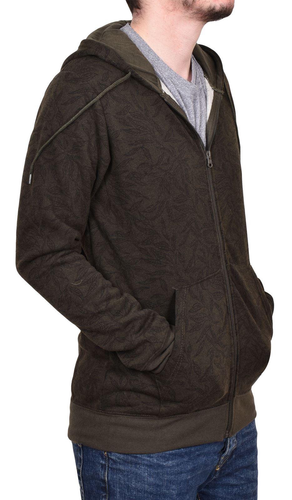 Brave Soul Homme rayé à manches longues à capuche avec cordon de serrage Pullover Sweat à Capuche Top-Bleu Marine