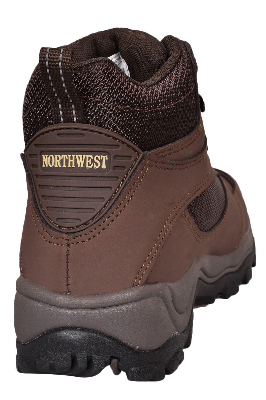 NORTHWEST Mens Women Waterproof Hiking Ankle Boots Leather Trail Walking UK Size