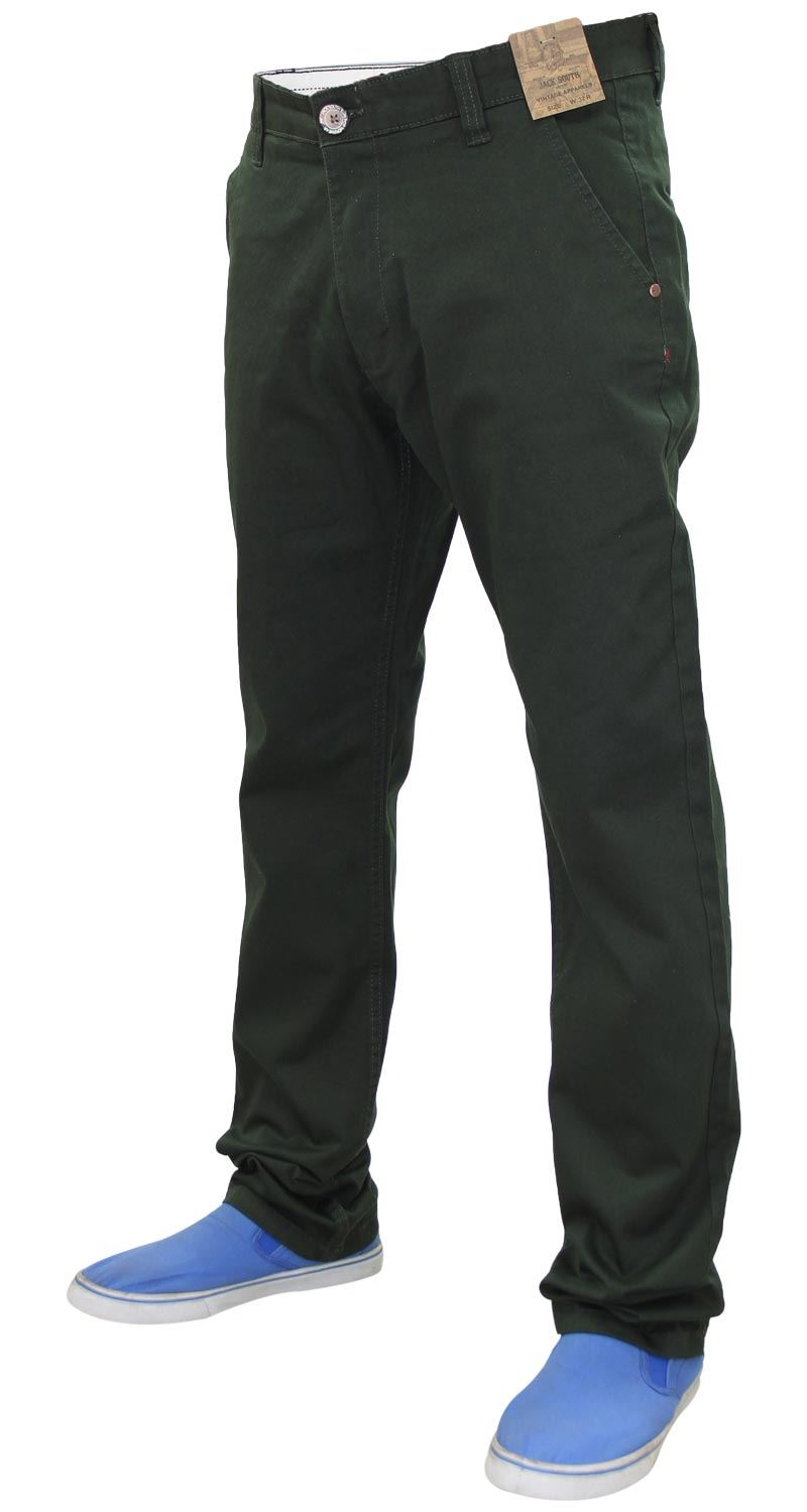 Jacksouth Mens Chinos Trousers Regular Fit Stretch Cotton Rich Twill Jeans Pants