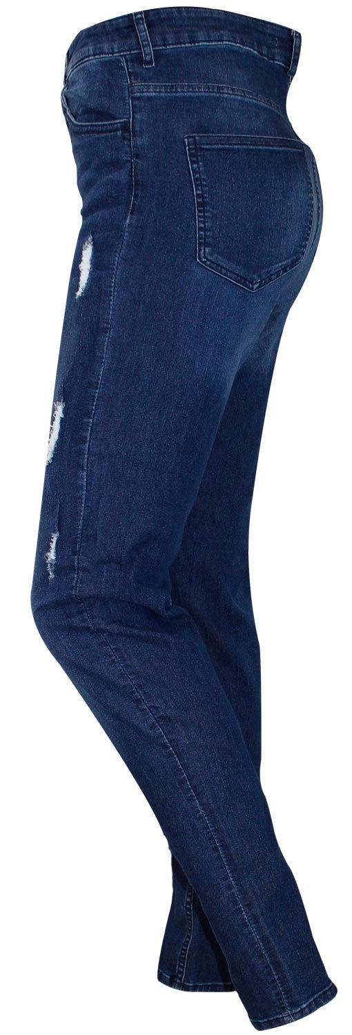 NUOVA LINEA DONNA STIVALI JEANS SLIM FIT STRAPPATO COTONE STRETCH DENIM PANTALONI STRETCH 6-14