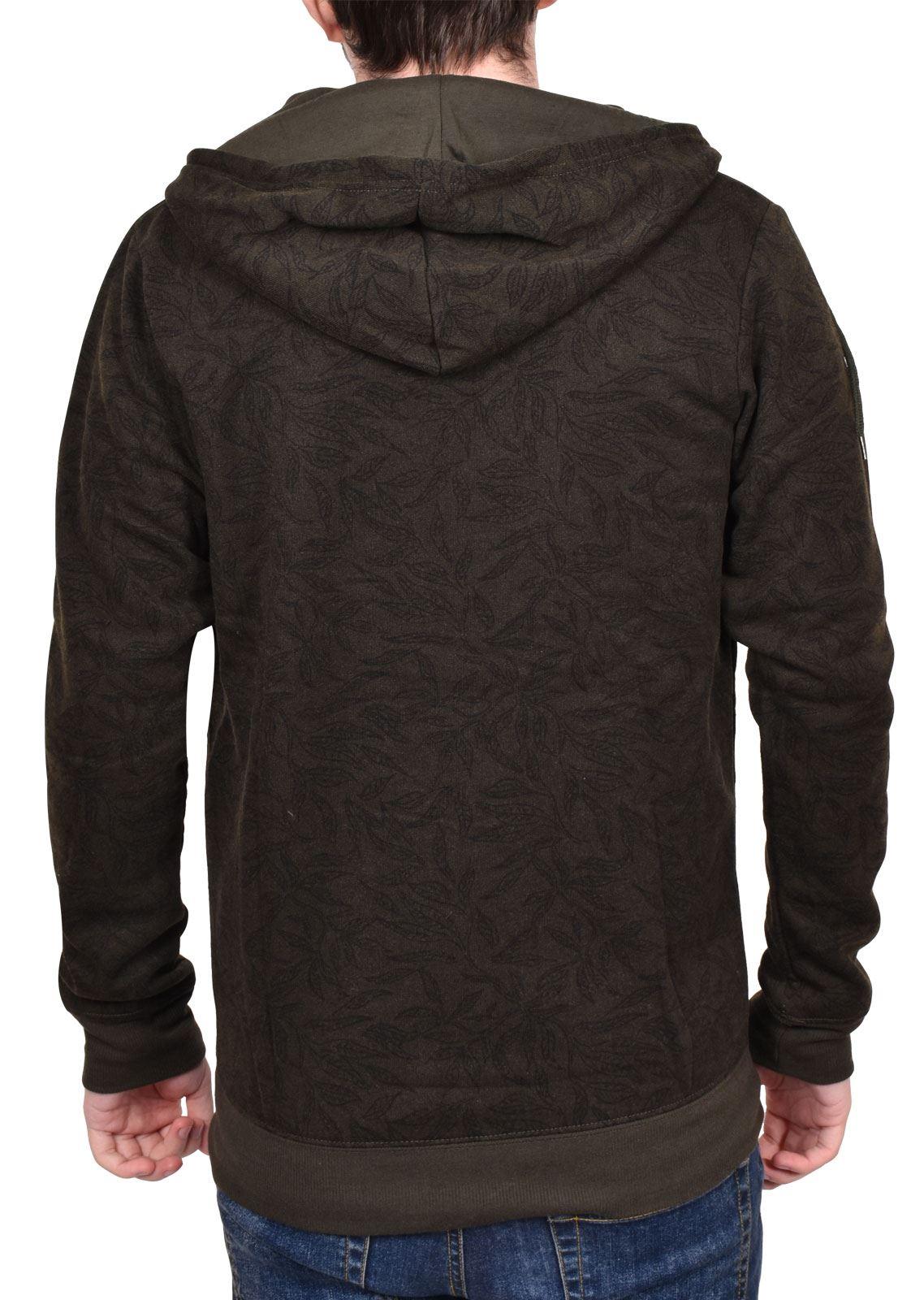 Mens Long Sleeve Hooded Hoodie Pullover Jumper Top BRAVE SOUL