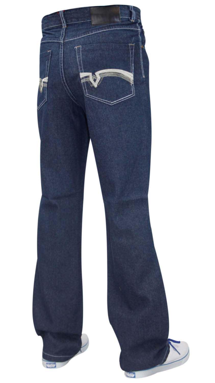 Men Denim Jeans Slim Bootcut Regular Fit Trousers Pants All Waist Sizes 30-40