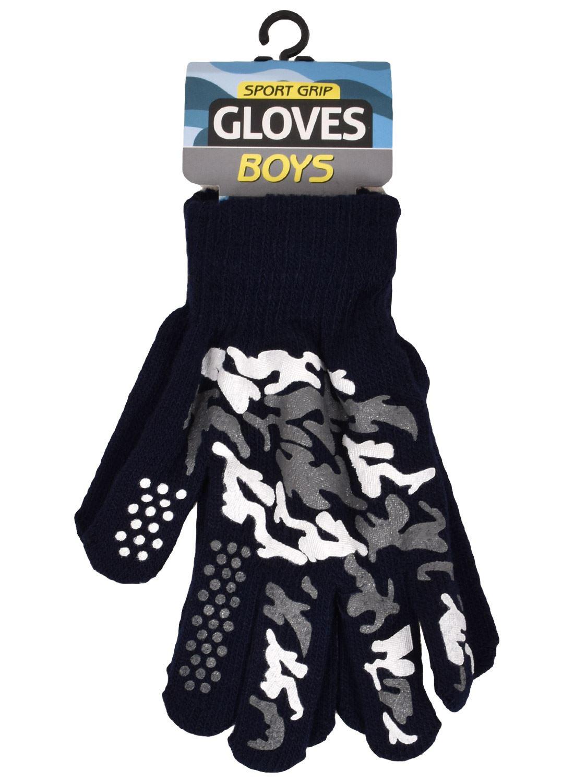 Ragazzi Griper Magic Gloves CAMOUFLAGE Sports Stretch Inverno Caldo Taglia Unica Adatta A Tutte Le