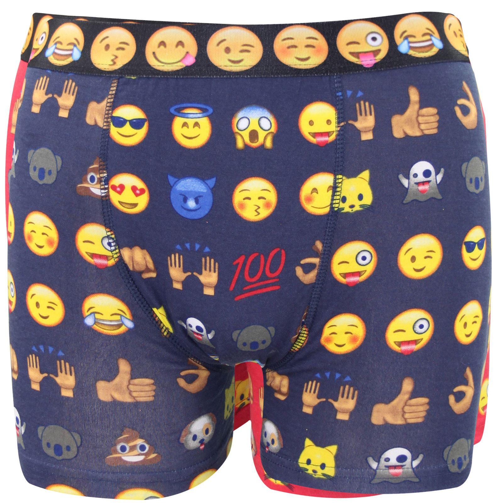 New Mens Emoji Printed Assorted Patterned Funny Novelty Shorts Trunks Underwear