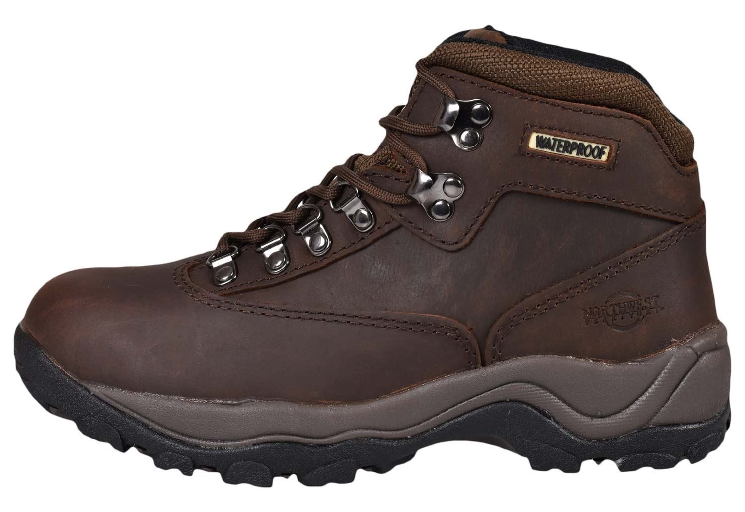 Northwest Territory Womens Leather Ankle Boots Hiking Camping Waterproof Shoes