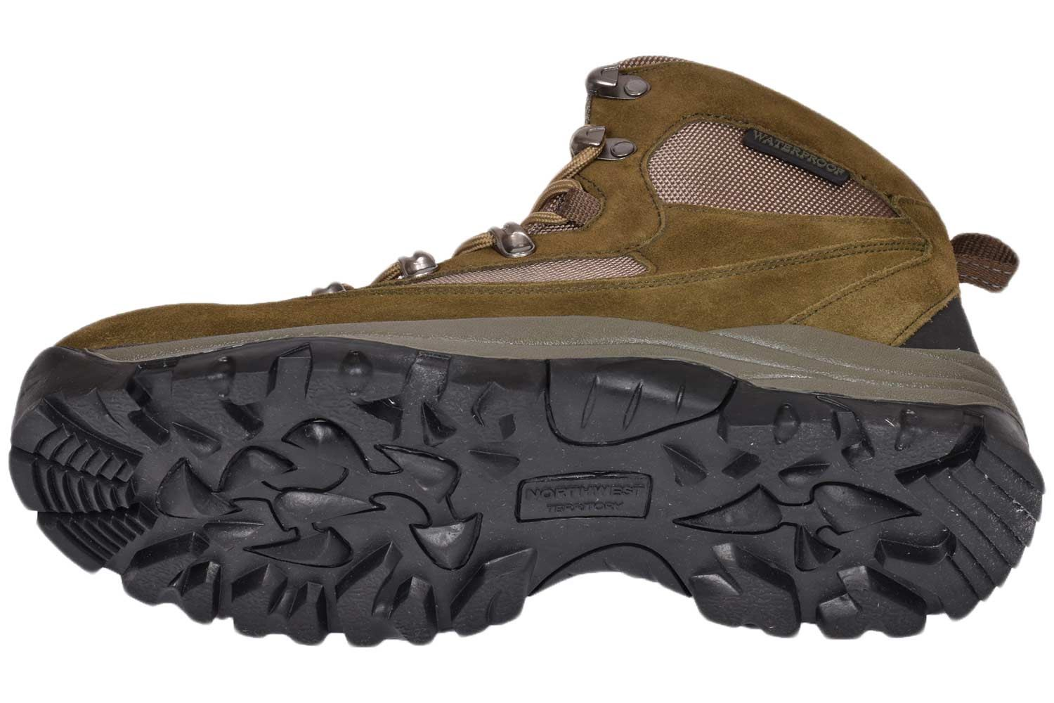 Mens High Ankle Boot Northwest Walking Hiking Trail Leather Waterproof Rise Shoe