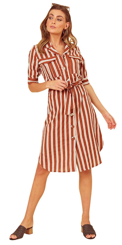 UK femmes d/'été court Linning Bow manches col Midi robe avec poches