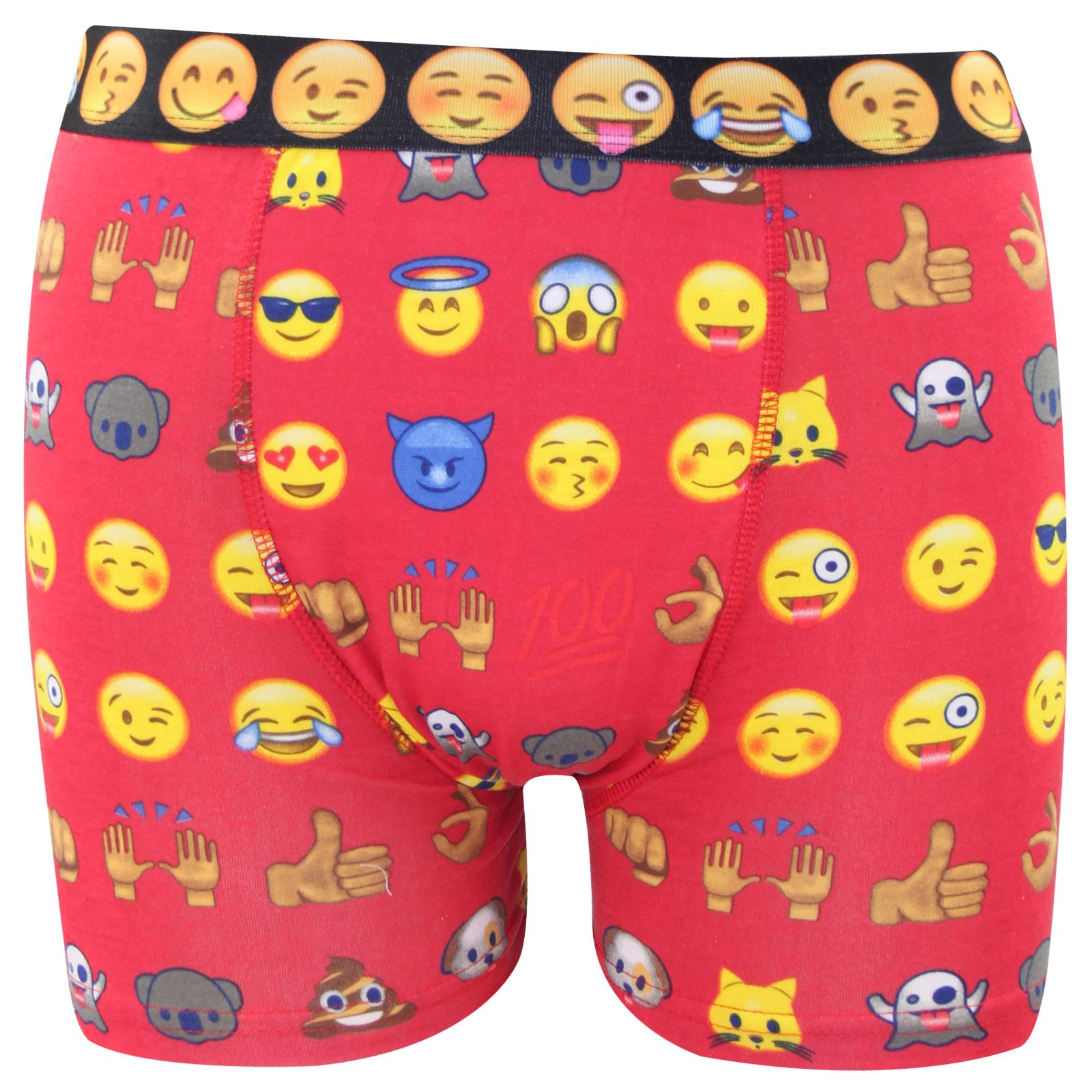 Mens Boxer Briefs Funny Face Emoji Happy Time Stretch Breathable Underpants