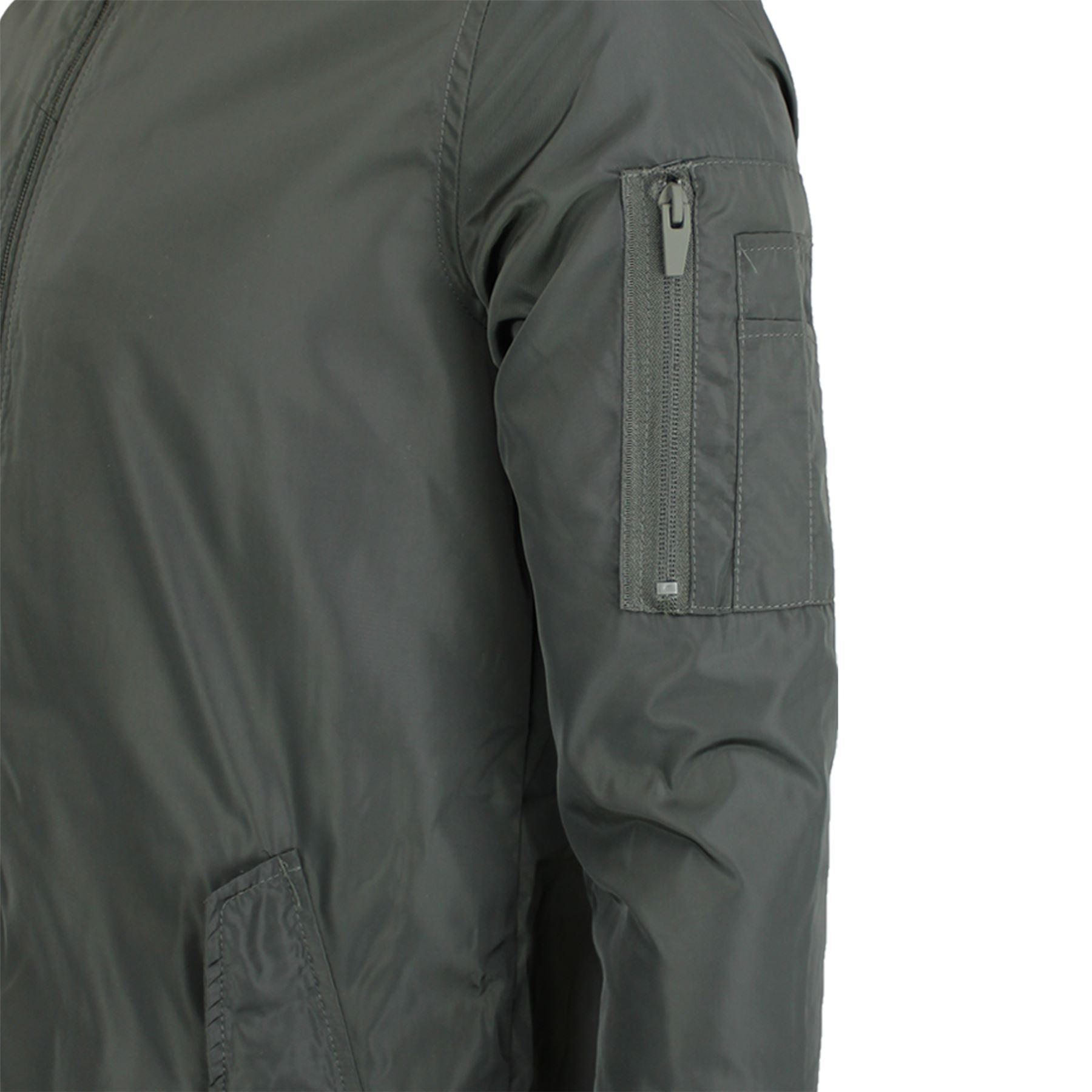 Mens Brave Soul Robinson Plain Longline Padded Lined MA1 Bomber Jacket Coat