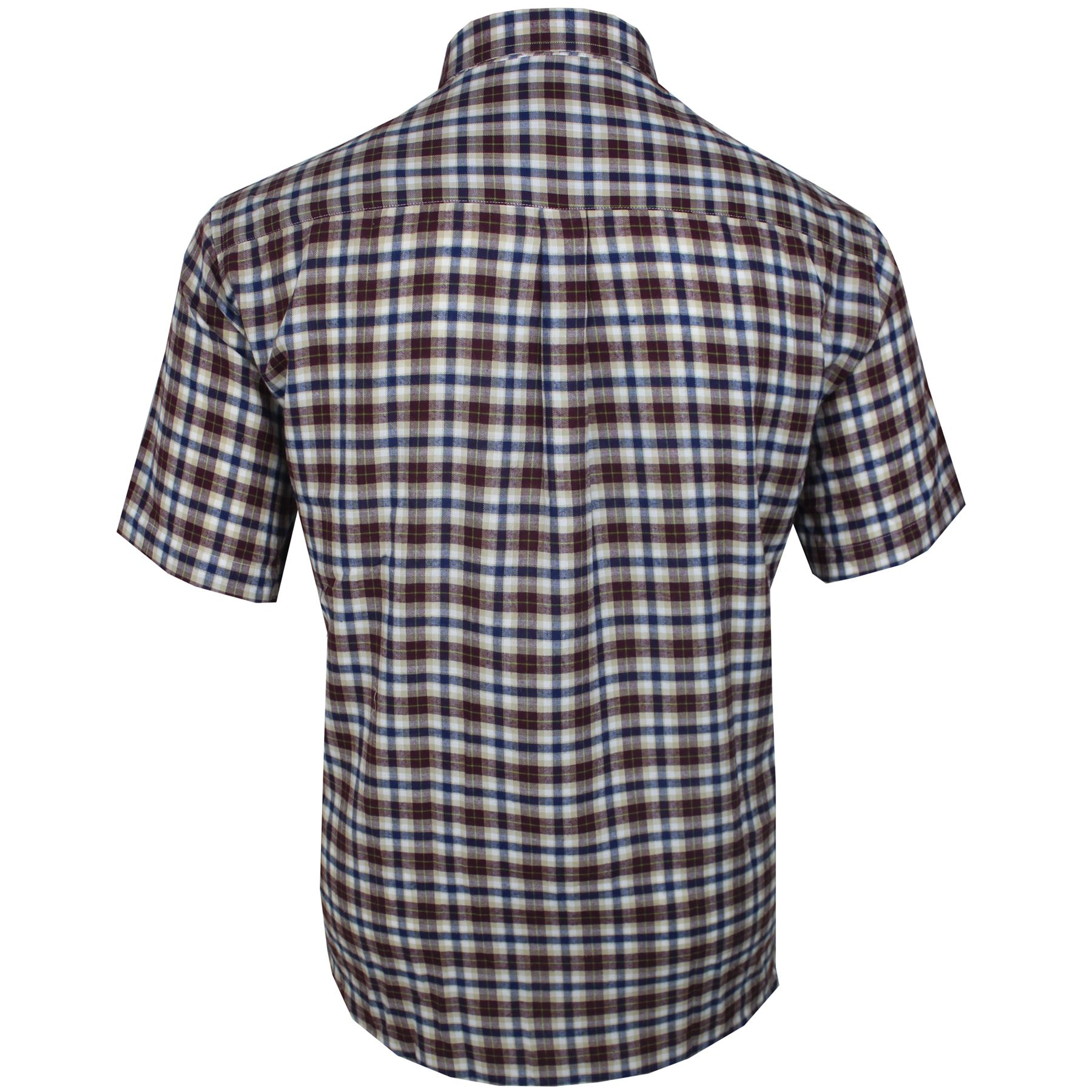 Mens Cotton Valley Big Size Check Pattern Casual Short Sleeve Shirt 3XL 4XL 5XL
