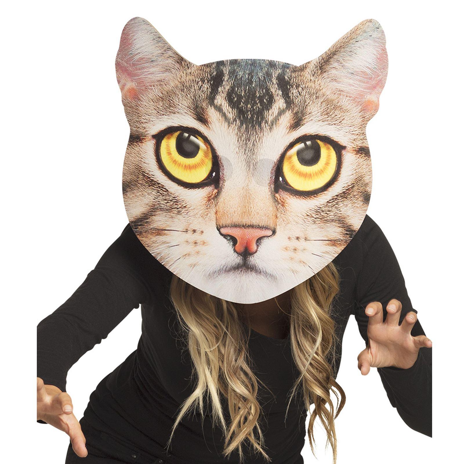 Géant Chat Chien Carlin réaliste Plat Animal Masque grosse tête en mousse EVA Drôle Blague