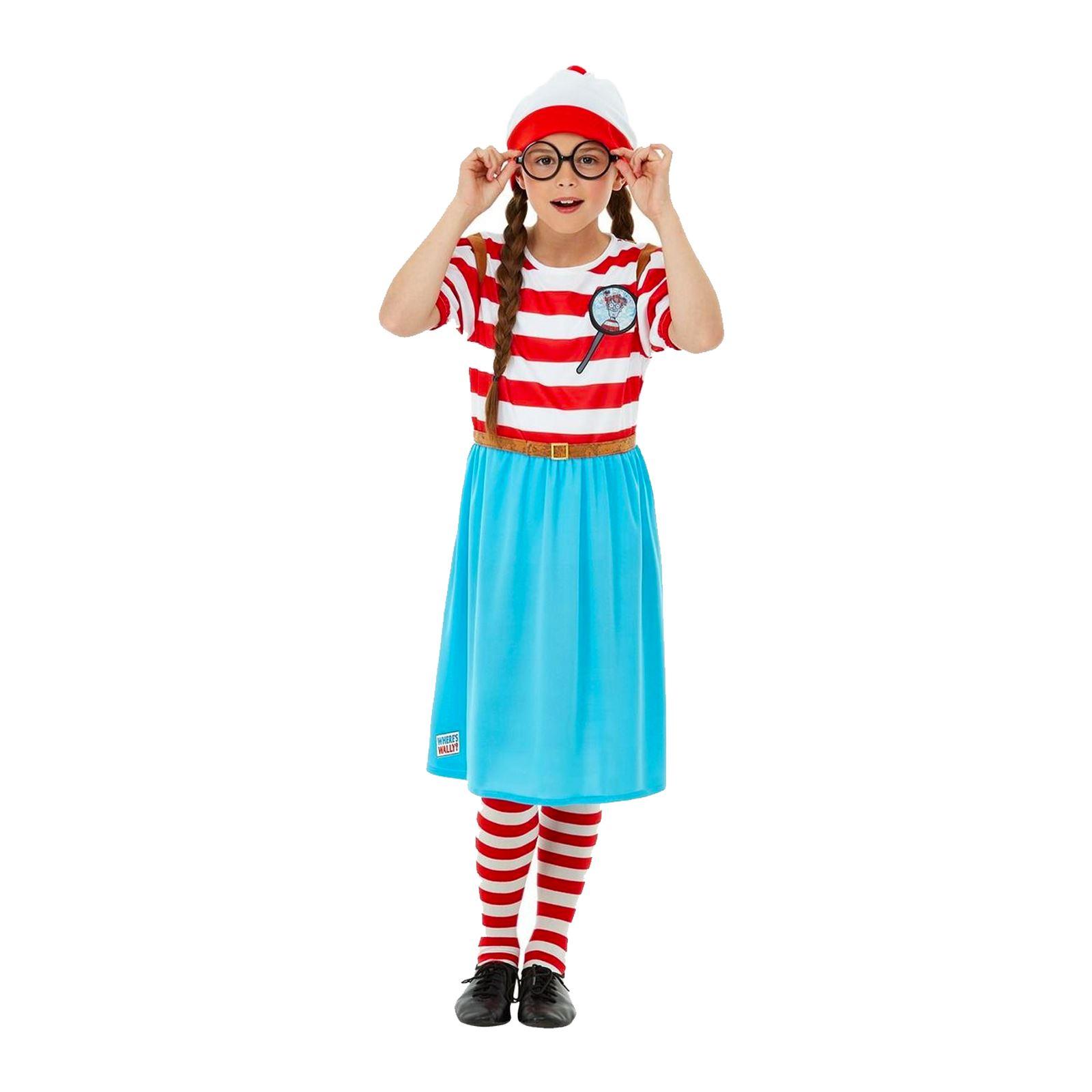 Wenda Book Day Character Fancy Dress Costume Kids Girls Where/'s Wally