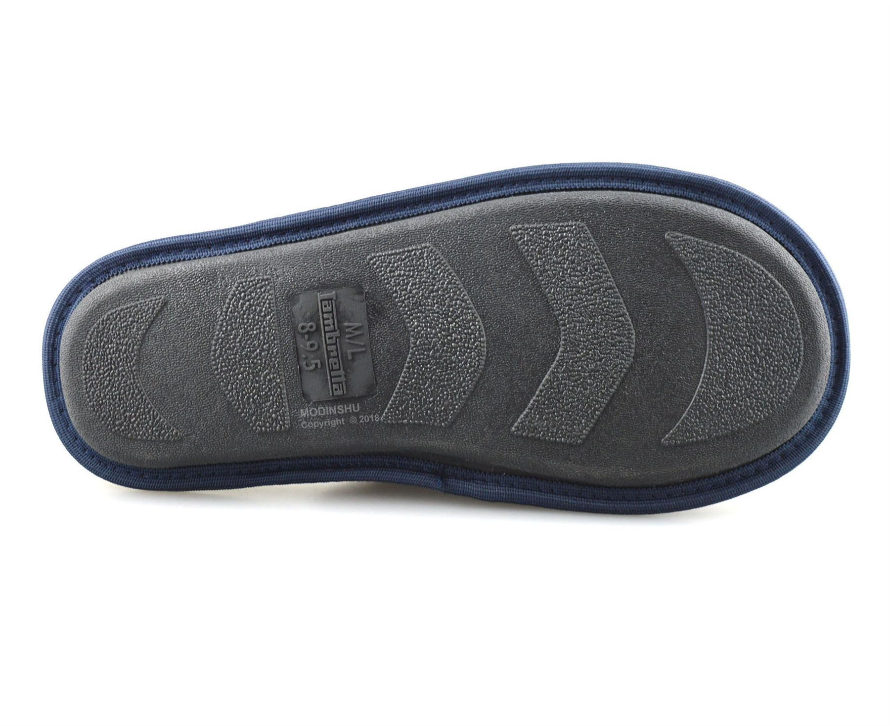 Para Hombre Lambretta Memory Foam Invierno Cálido Zapatillas Plano Sin Cordones Mulas Zapatos Talla