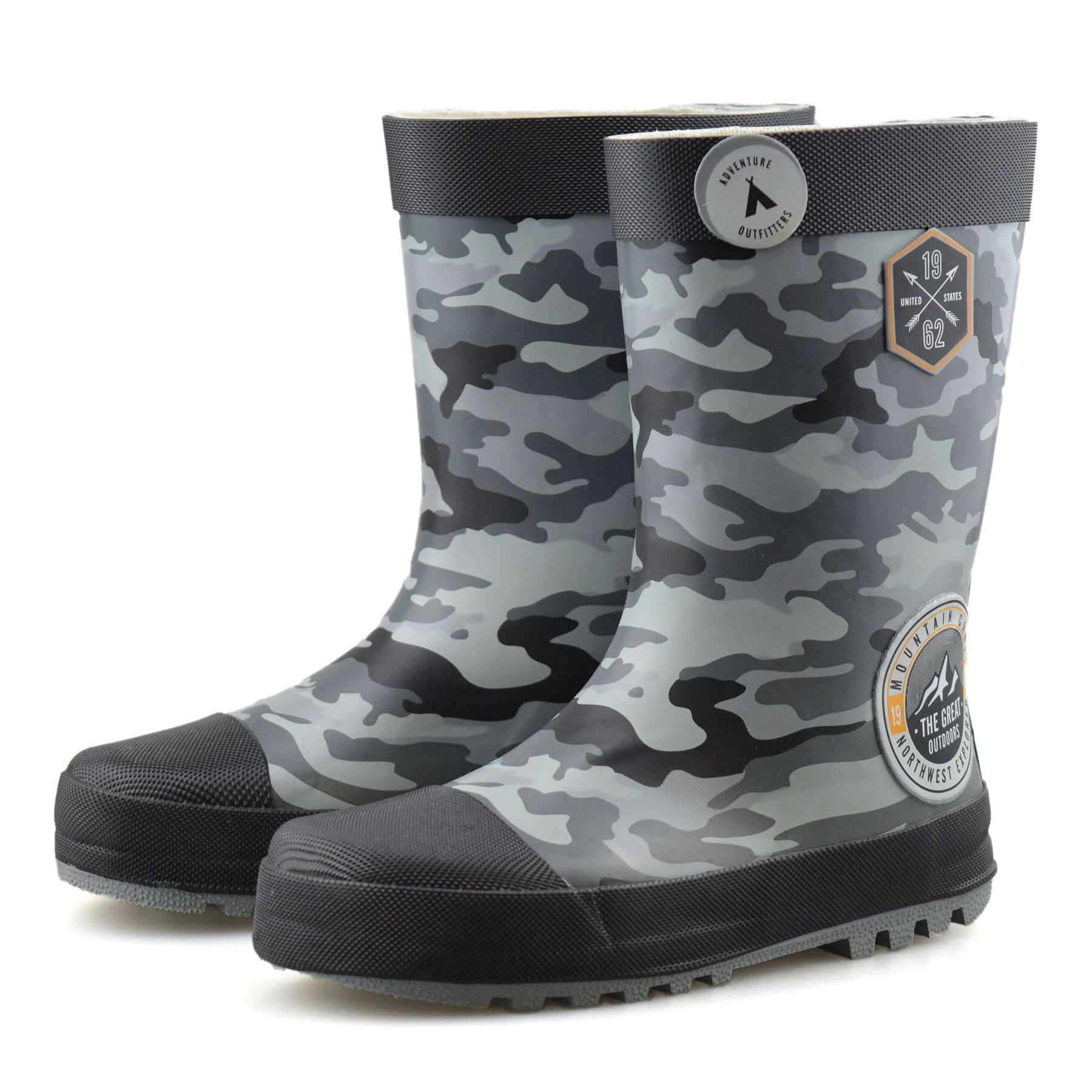 Boys Girls Waterproof Wellies Kids Winter Rain Snow Wellingtons Boots Shoes Size