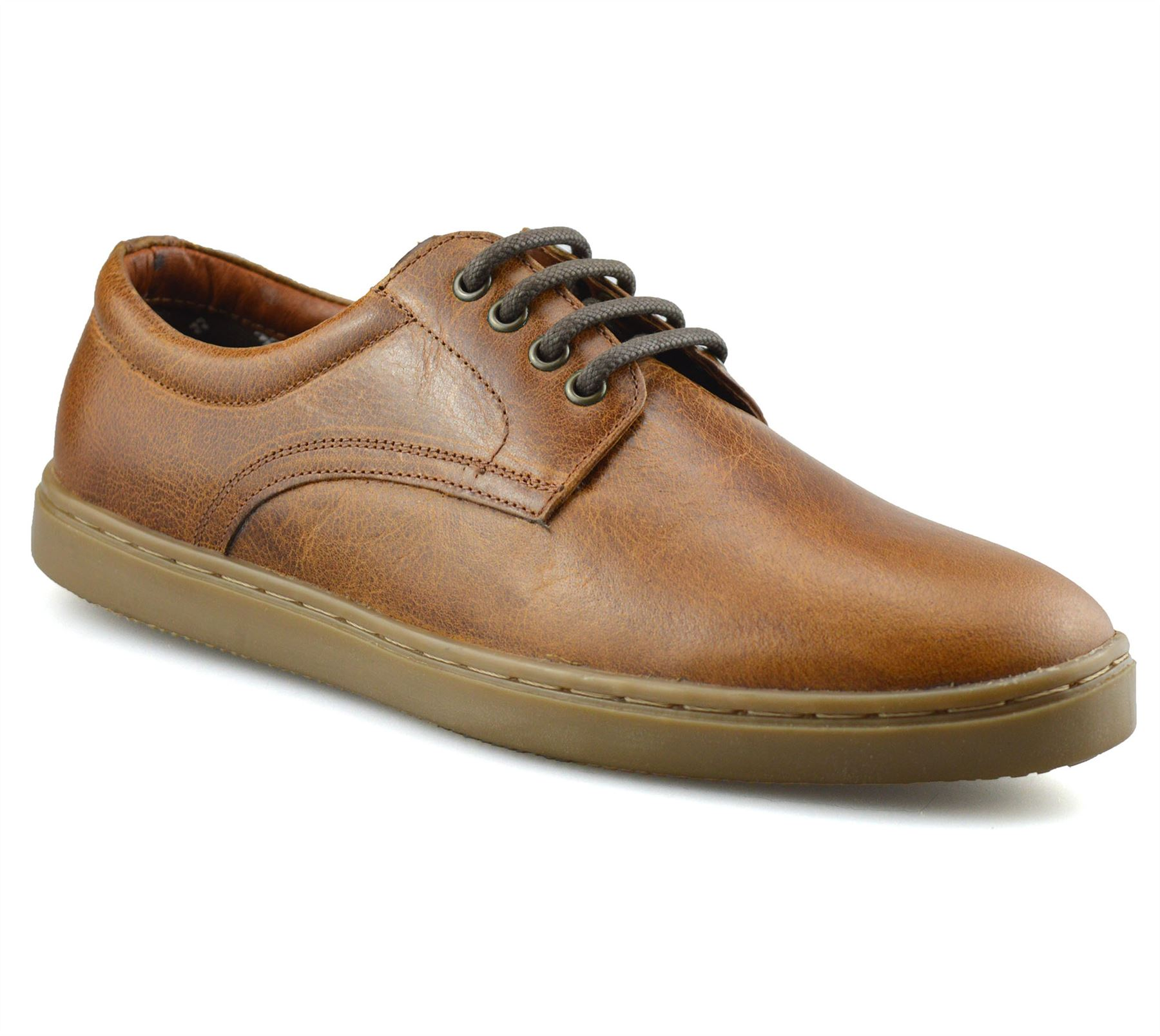 Mens Red Tape Leather Casual Smart Boat Deck Mocassin Work Lace Up Shoes Size