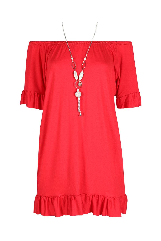 Womens Ladies Off The Shoulder Bardot Frill Peplum Sleeve Mini Dress T Shirt Top