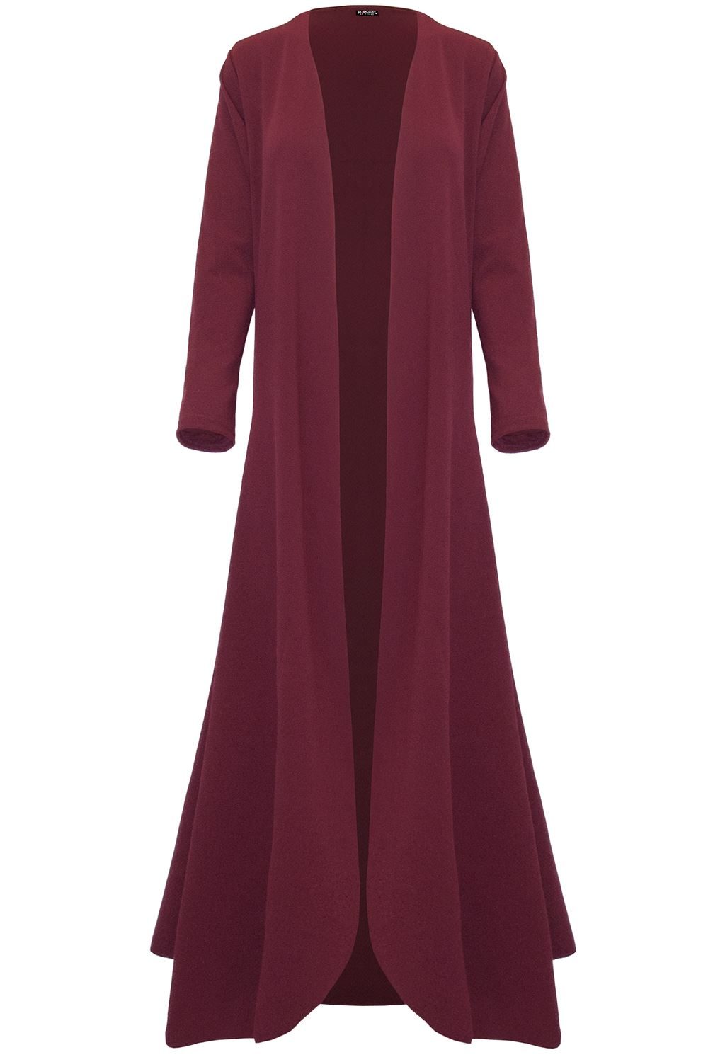 Ladies Womens Long Sleeve Waterfall Floaty Open Front Flare Maxi Cardigan Jacket