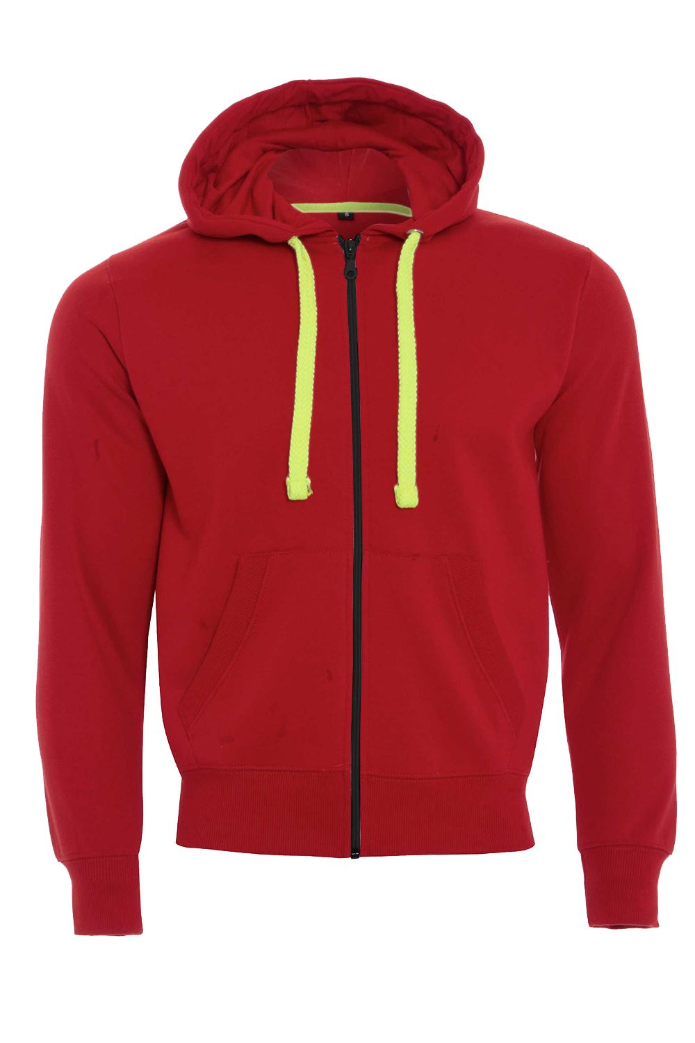 Mens Fleece Zip Up Neon Strings Zipper Hoodies Long Sleeve Sweatshirt Jacket Top
