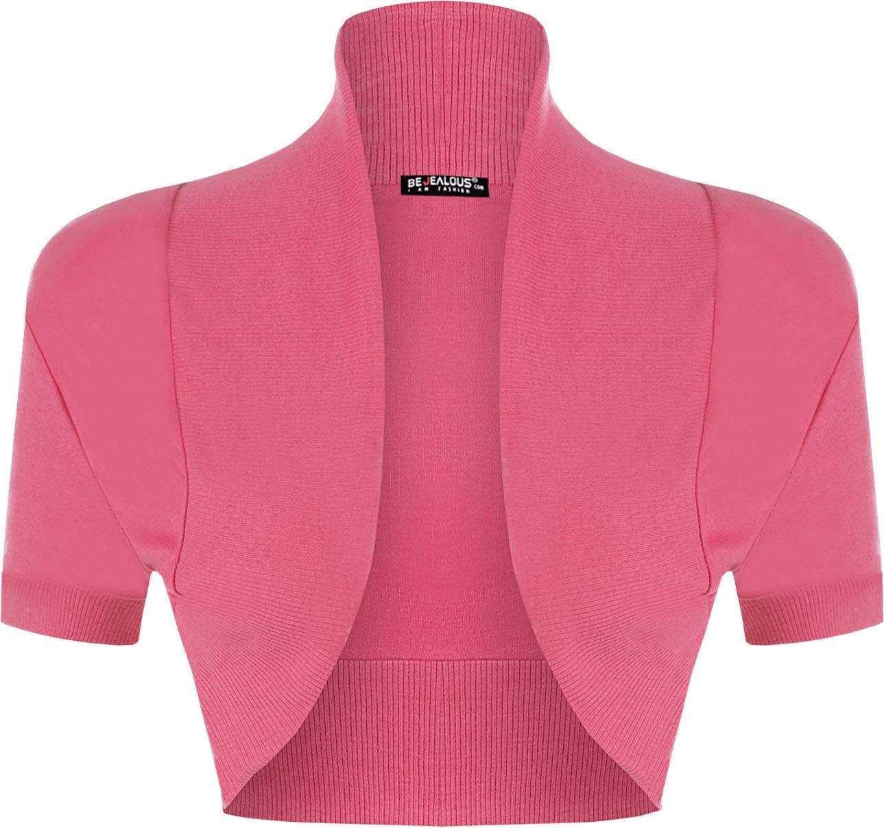 Ladies Womens Cap Sleeves Bolero Open Beaded Sequin Cropped Stretchy Shrug Top