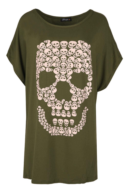 Womens Halloween Loose Fit Fang Tastic Bleeding Lip Top Ladies Batwing T Shirt