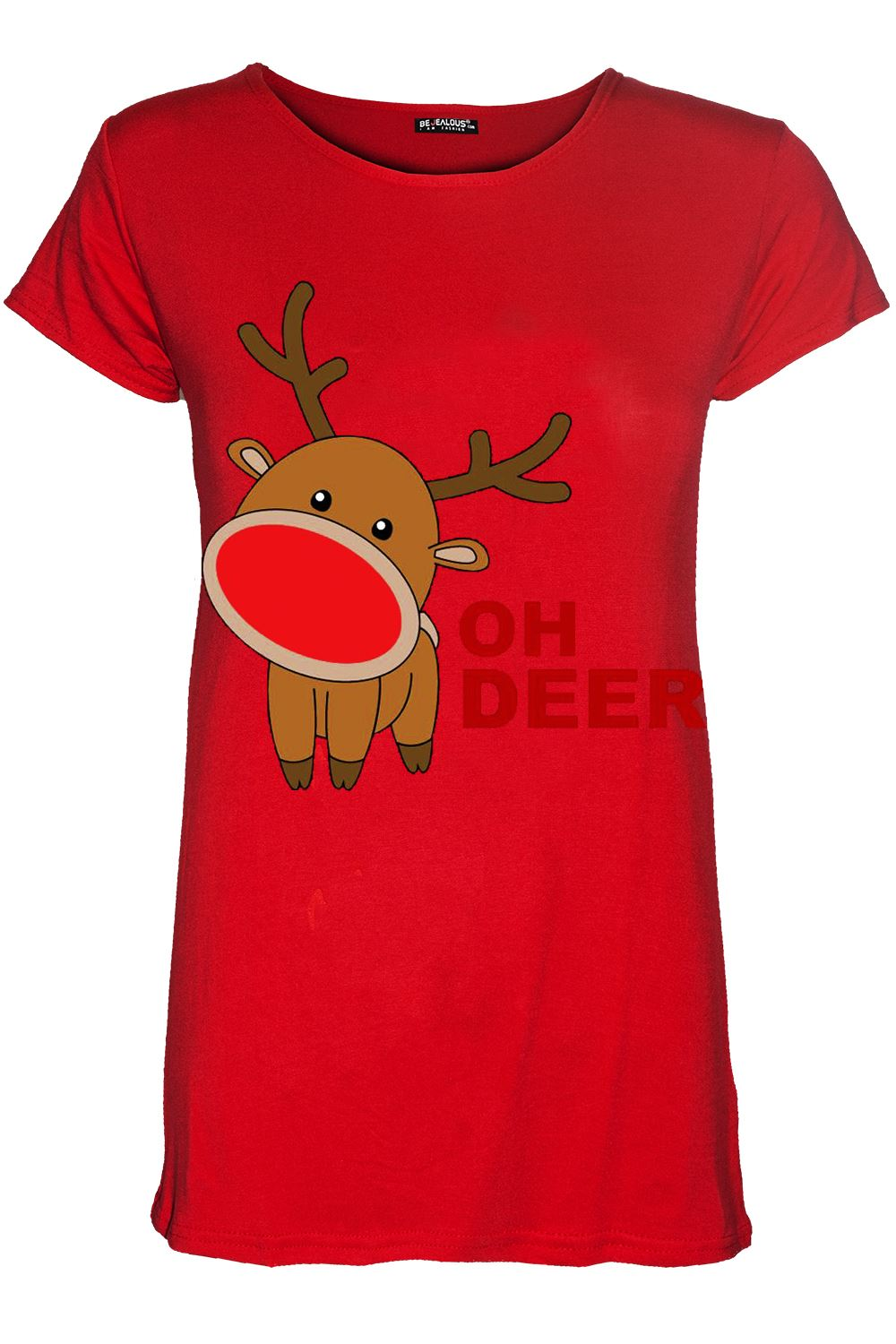 Womens Christmas Gingerbread Hat Candy Ladies Stretchy Cap Sleeve T Shirt Top