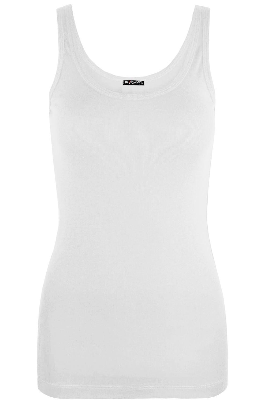 Womens Plain Sleeveless Ladies Cotton Long Casual Gym Summer Tank Tops Vest Top