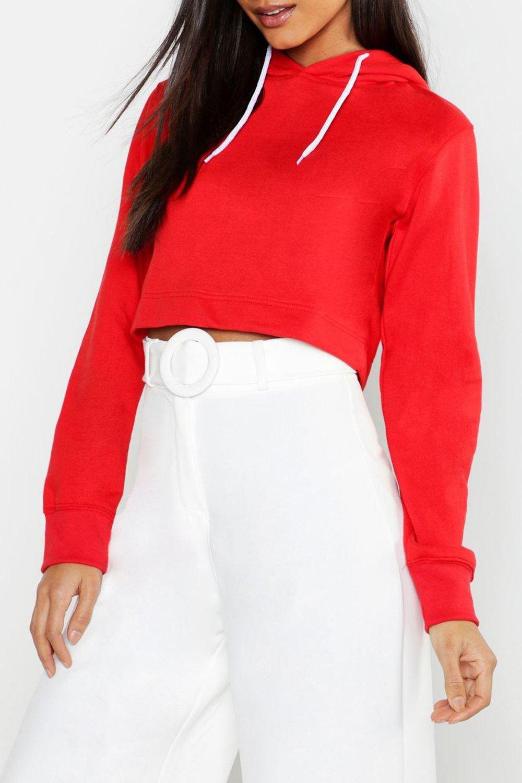 New Womens Full Sleeve Hoody Fleece Sweatshirt Pullover Hoodie Ladies Crop Top