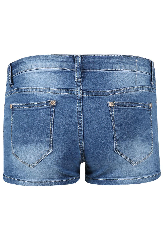 Da Donna Hot Pants Donna In Denim bordi grezzi Strappato Destroyed Effetto Invecchiato scolorito Pantaloncini