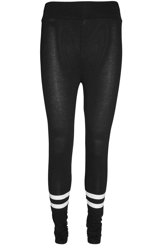 Da Donna Contrasto Strisce Skinny Alla Caviglia piena lunghezza vita alta jeggings leggings