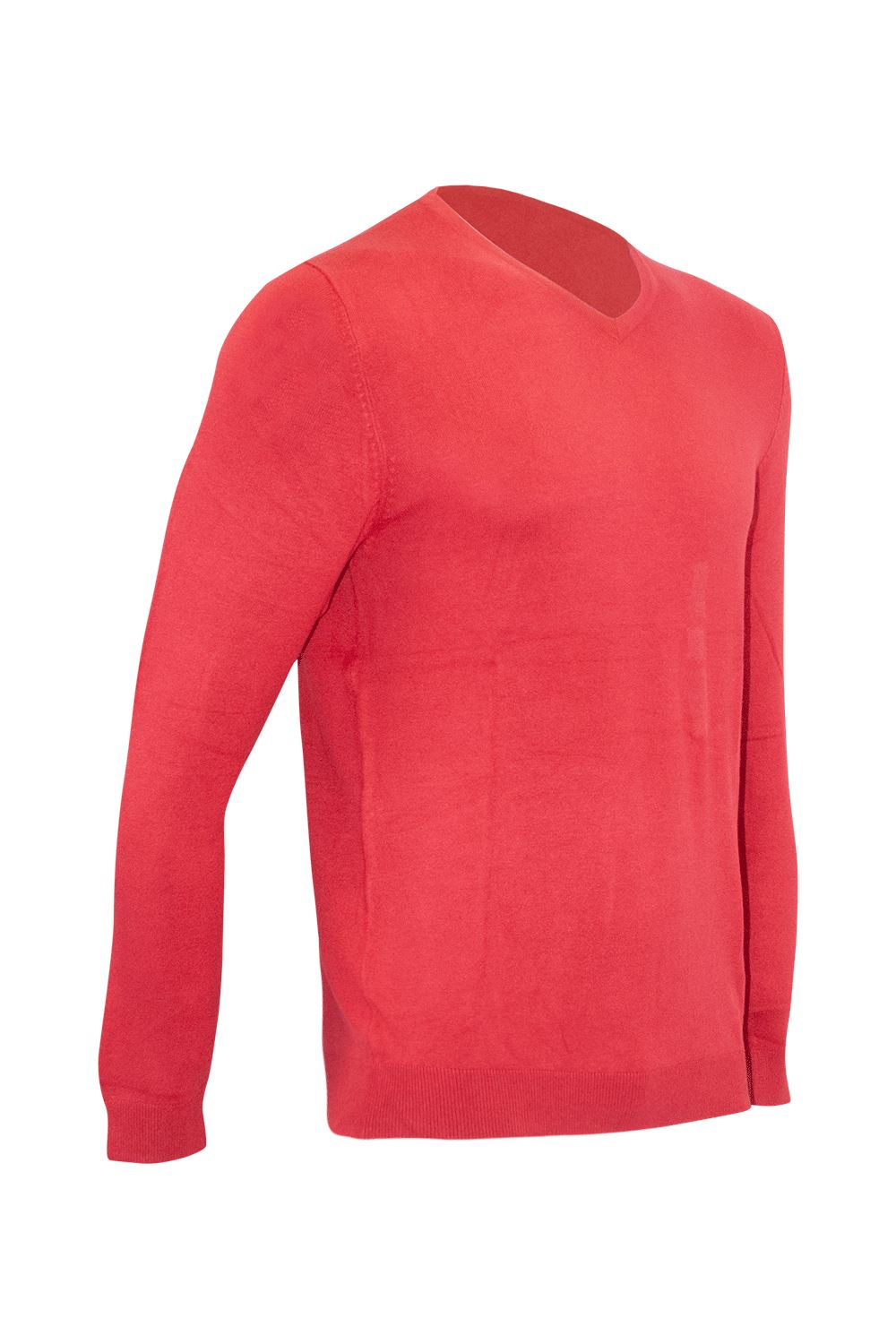 Homme à Manches Longues Côtelé Knitwear Pull Sweater Tricot Col V Pull