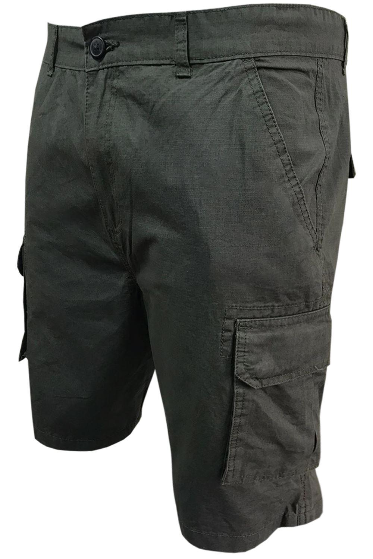 Mens plaine Combat Longueur Genou Été Pantalon Fermeture Éclair 6 poches Casual Short Cargo