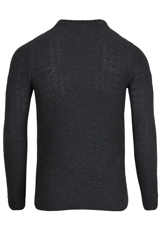 Da Uomo manica lunga girocollo con marchio ZIG ZAG SWEATER Pullover Caldo Maglione Tee Top