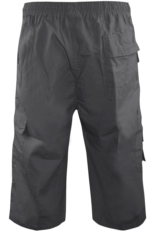 Da Uomo Elastico In Vita Cargo Combat Plain Pantaloncini Casual inferiore pantaloni Zipper