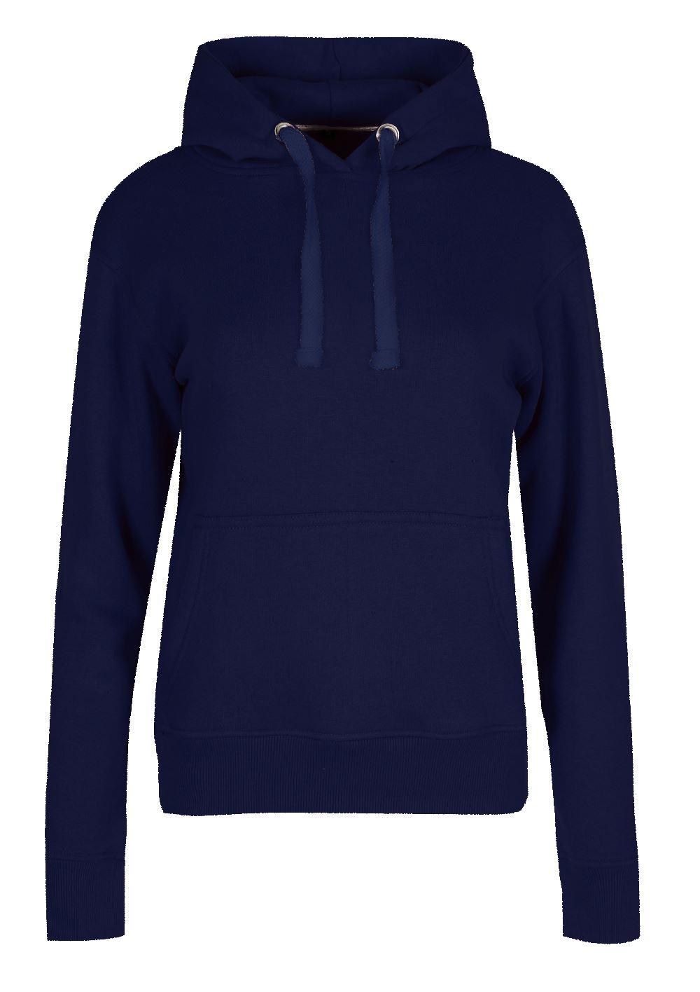Womens Hoodies Ladies Long Sleeve Fleece Knit Side Pockets Jumper Top Sweatshirt