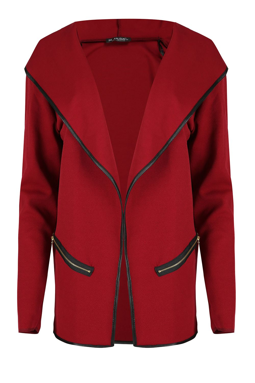 Da Donna Felpe Con Cappuccio Donna Cardigan Tasca Con Zip Aperto Sul Davanti Elasticizzato Blazer Cappotto Giacca
