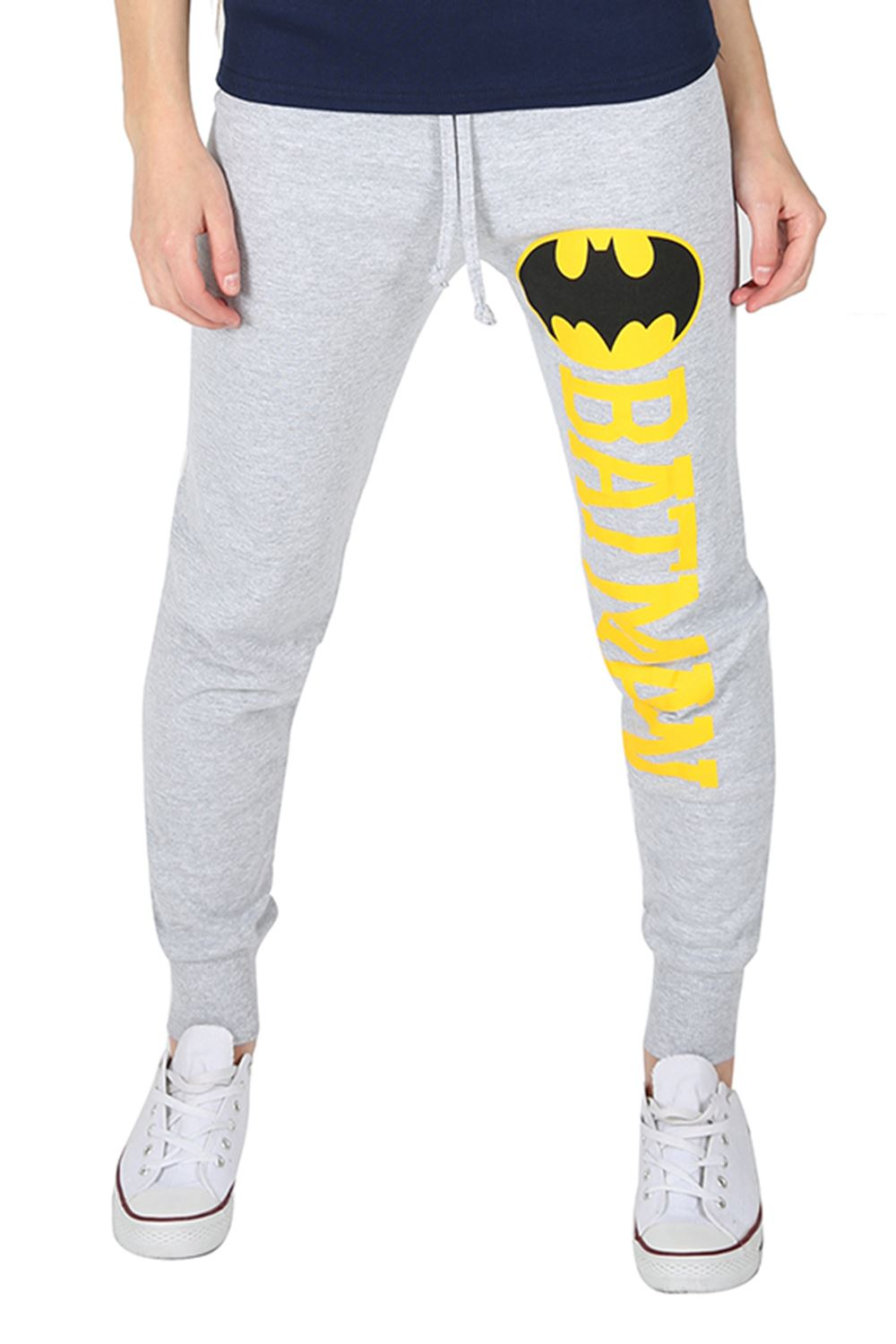 Womens Ladies Superman Batman Logo Jog Bottoms Jogging Pants Trouser Plus Size