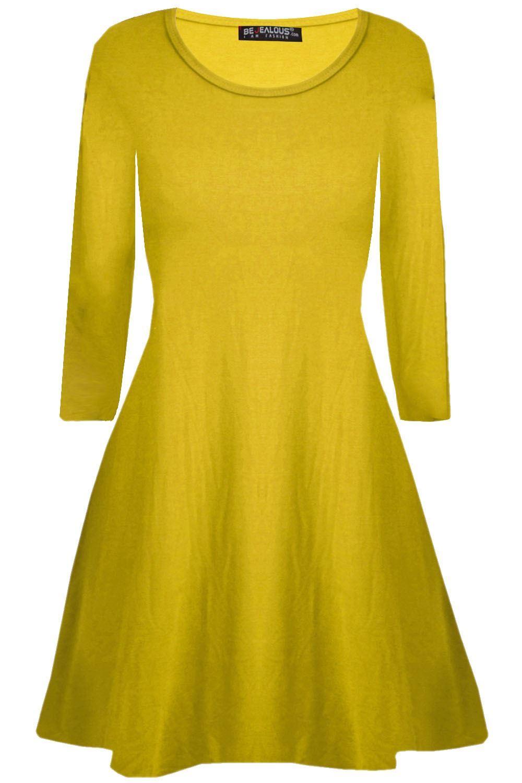 Mini vestido señoras años 90 Ojal detalle Swing Dress Top para Mujer Con Cordones Profundo Escote en V