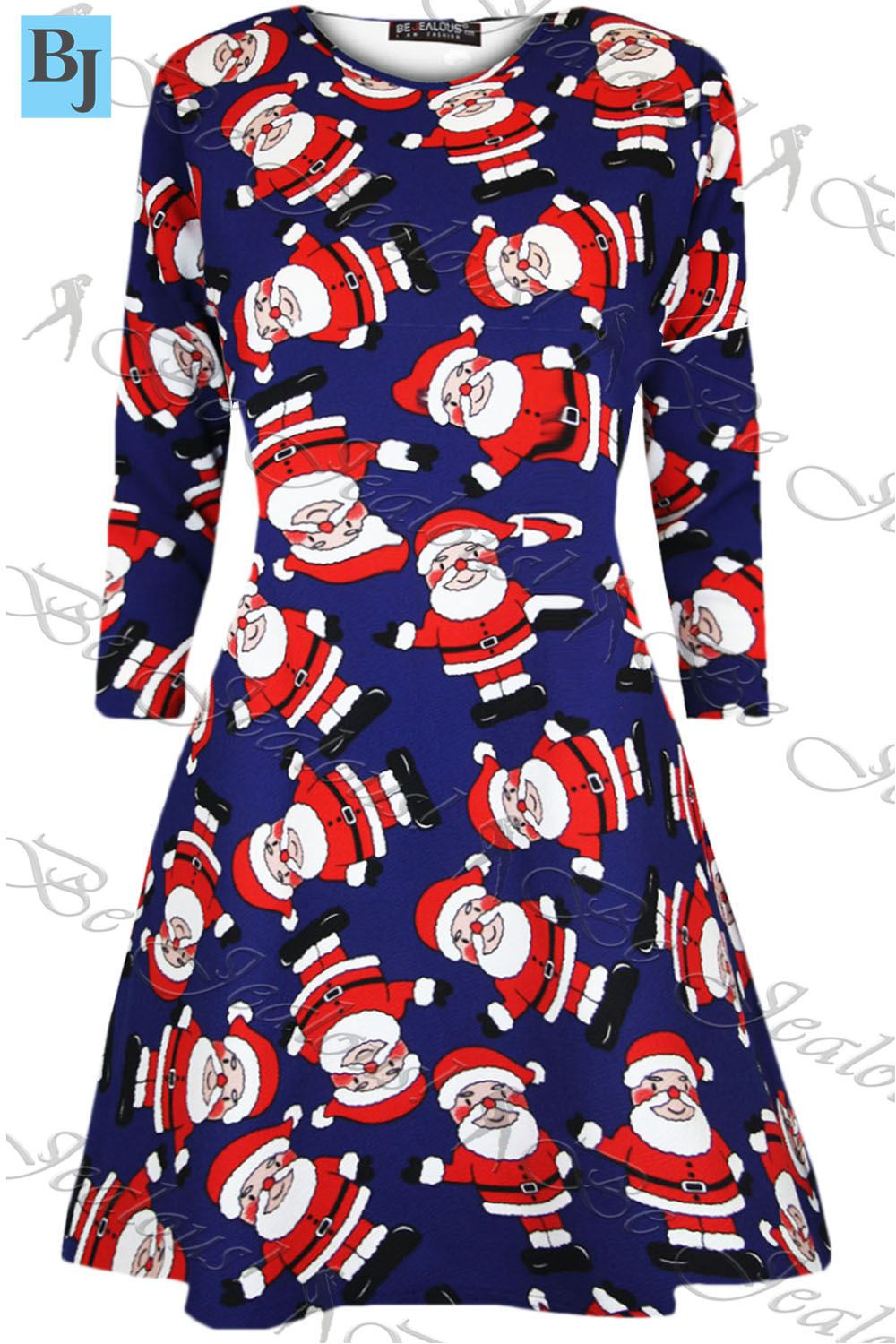 ladies penguin snowman reindeer womens santa christmas xmas skater swing dress