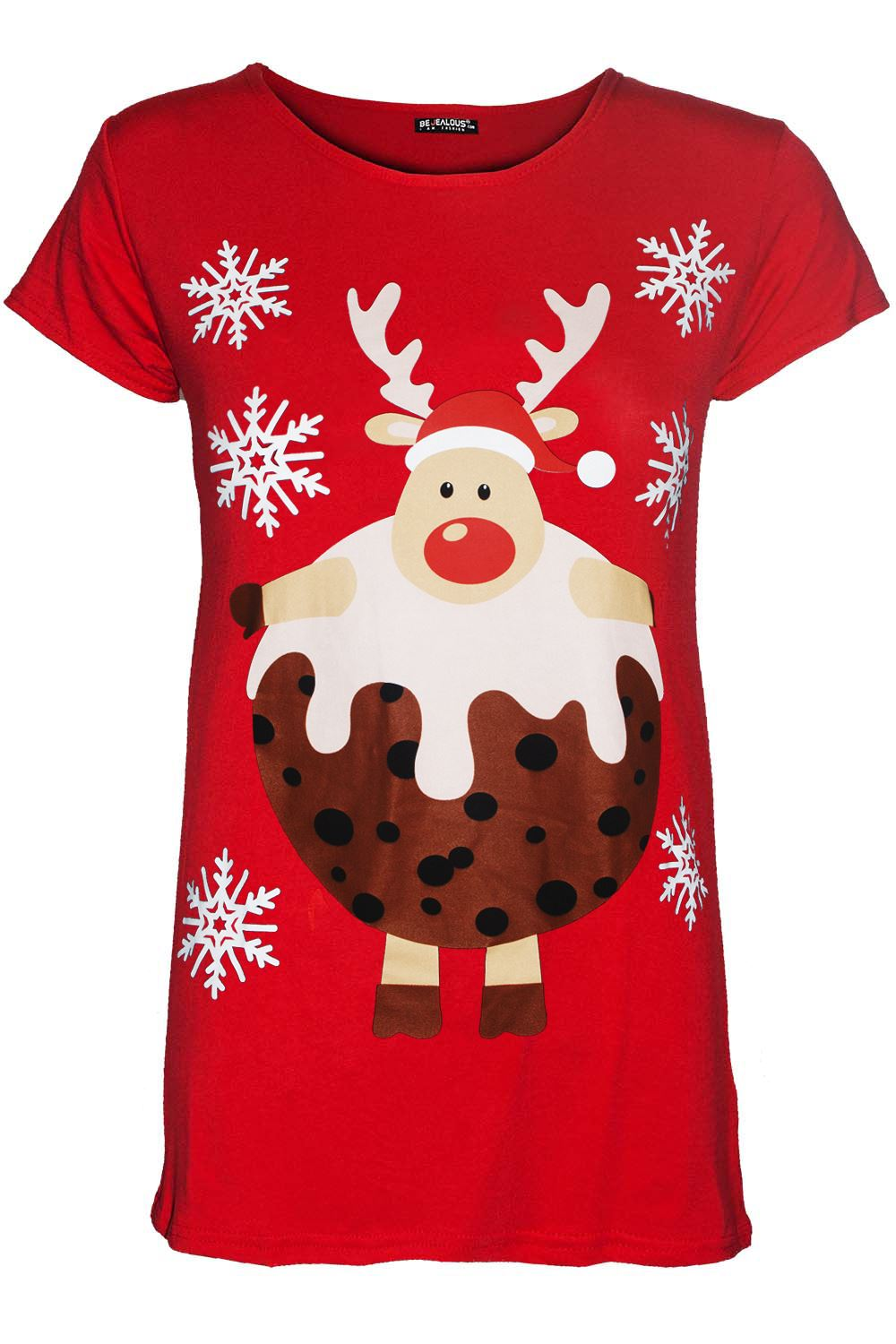 Kids Girls Christmas Pullover Heart Ribbon Santa Suit Costume T Shirt Tee Top
