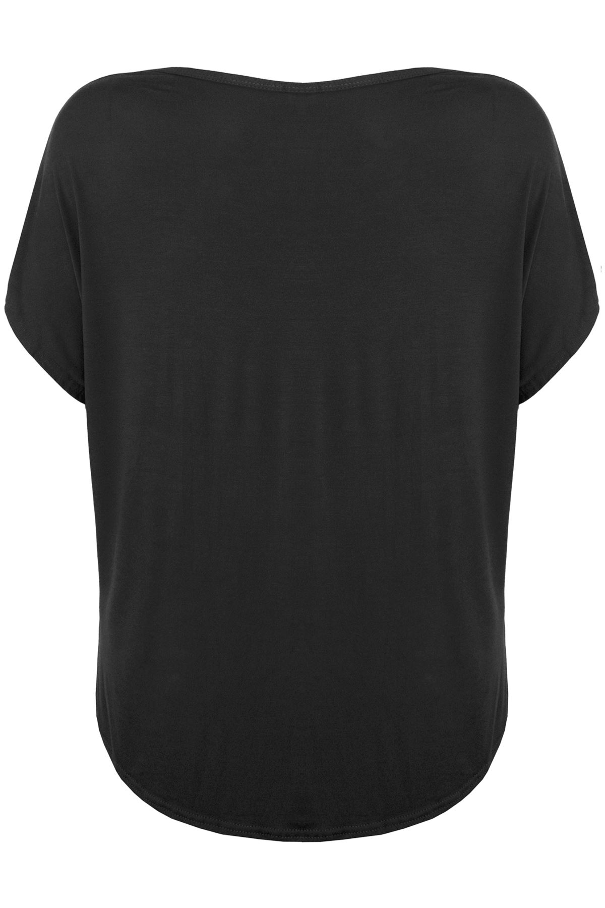Plus Size Womens Sorry I am Late Off Shoulder T Shirt Ladies Baggy Lagenlook Top