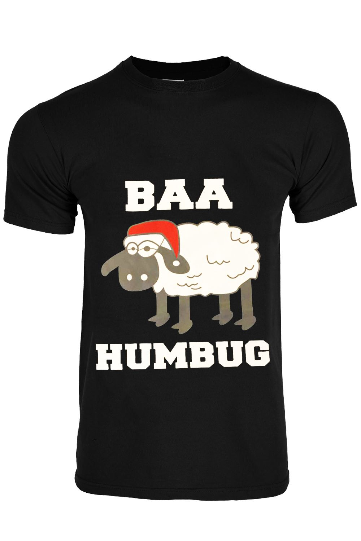 Mens Xmas Novelty Gift Tree Reindeer Santa Snowman Crew Neck Short Sleeve TShirt